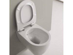 SCARABEO MOON WC ŠKOLJKA VISEĆA CLEAN FLUSH 50,5x36 cm BIJELA